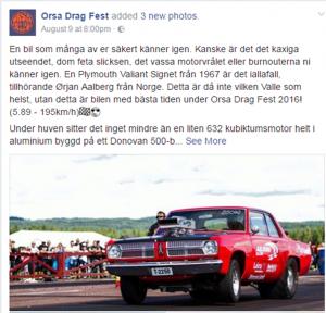 Orsa Drag Fest Valiant